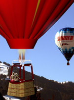 Hot air ballooning in the Alps